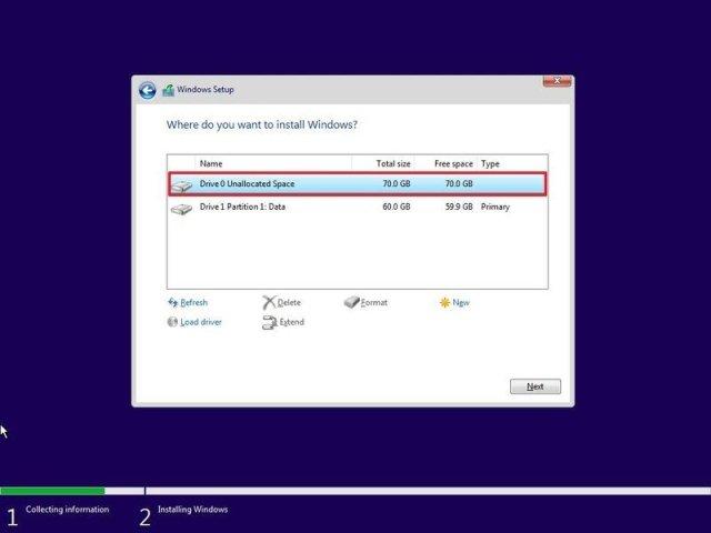 Select Windows 11 target drive