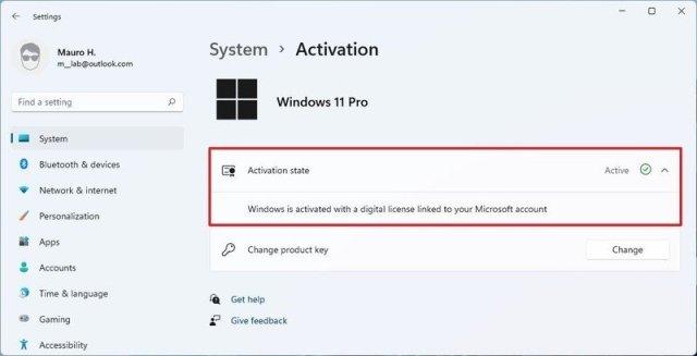 Windows 11 activation