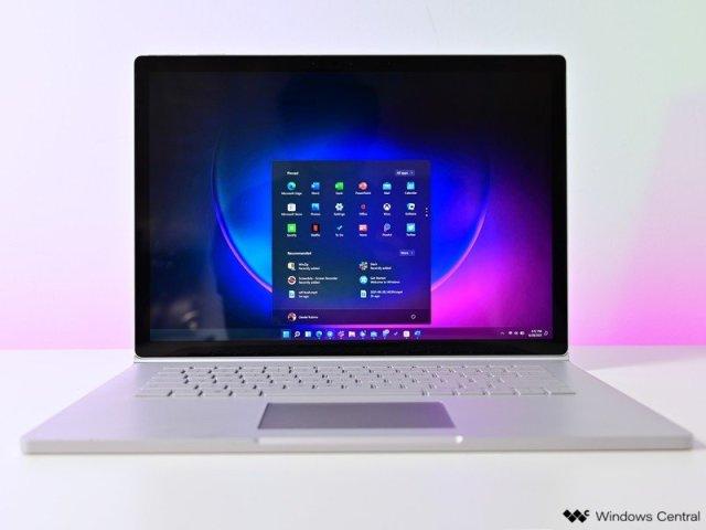 Windows 11 Start Hero Surface Book