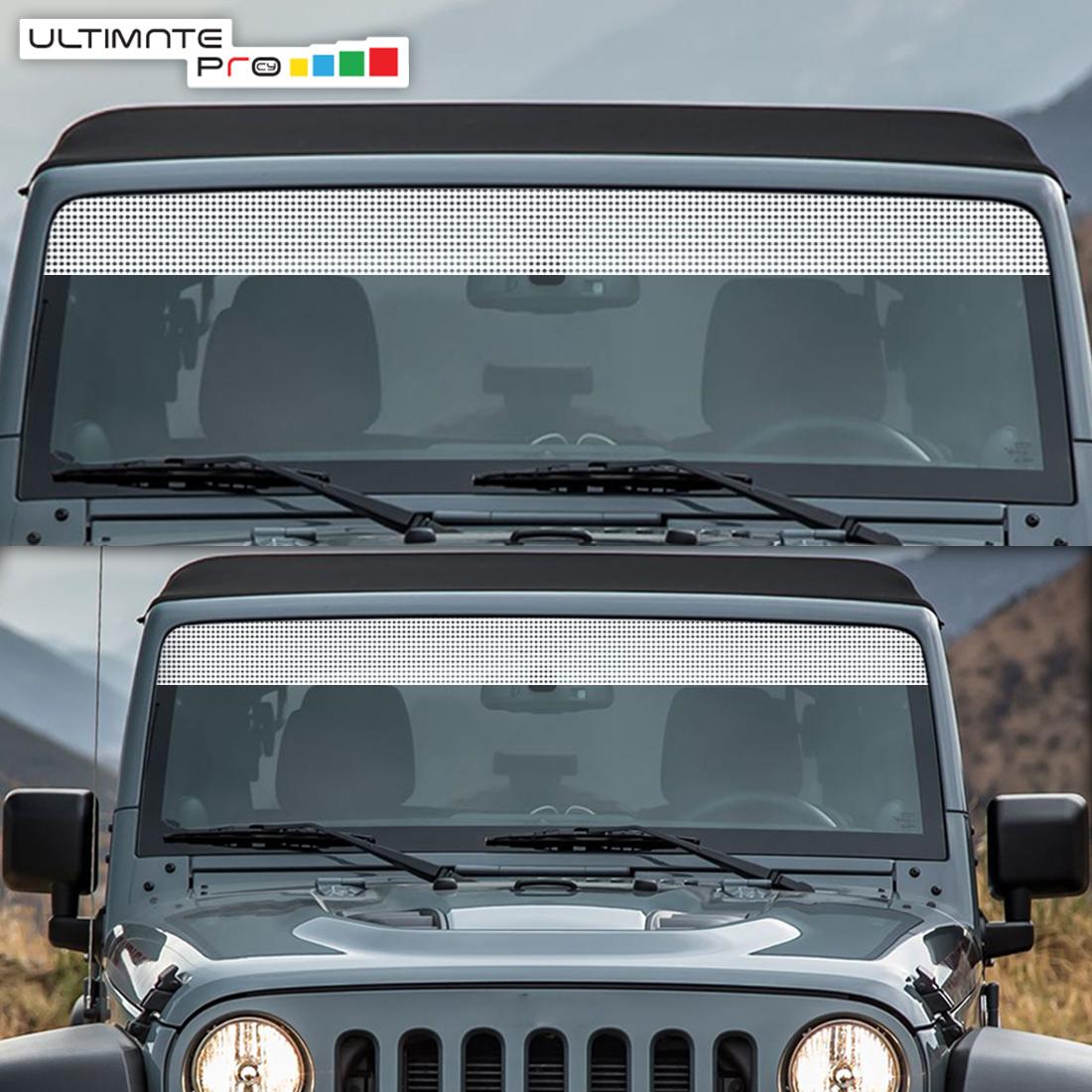 hight resolution of windshield banner