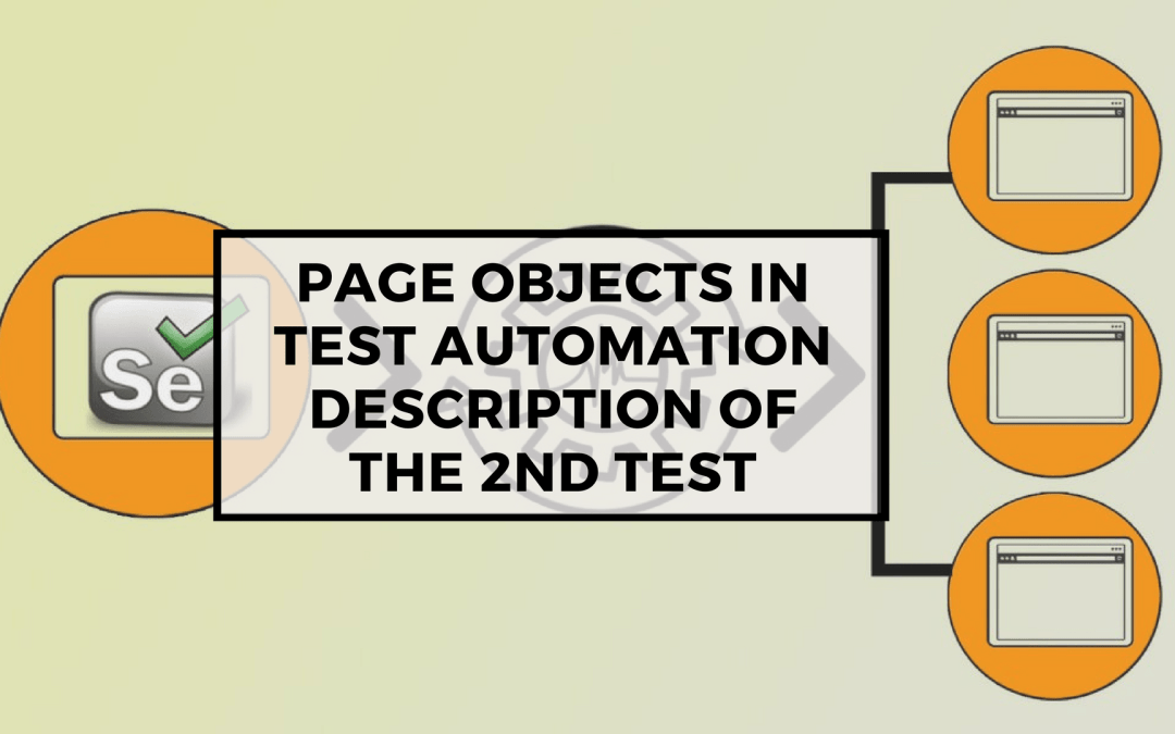 Page Objects in Test Automation – Description of the 2nd Test