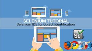 selenium ide for object identification