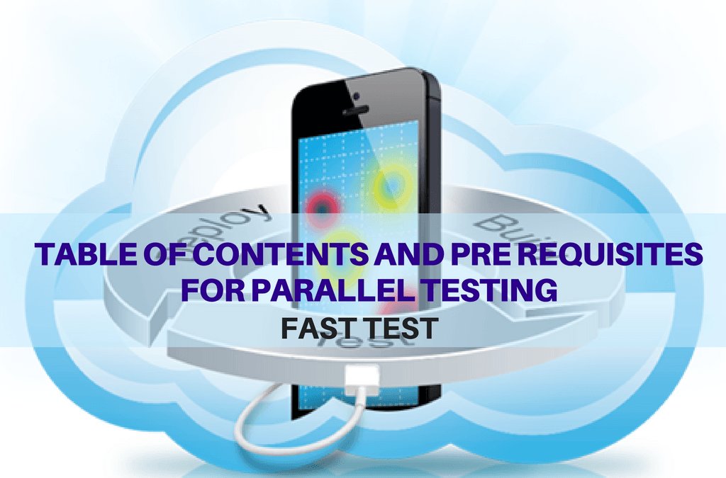 Selenium Tutorial – Fast Tests Execution – Table of contents and prerequisites for parallel testing