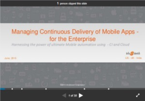 selenium webdriver resources -slides/ presentation -managing continous delivery of mobile apps