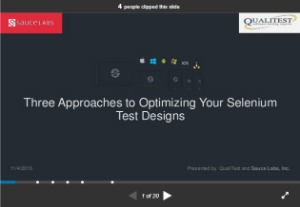 selenium webdriver resources -slides/presentations -three approaches to optimizing your selenium test design