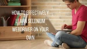 learn selenium effectively