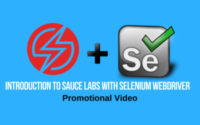Introduction to Sauce Labs with Selenium Webdriver – Promotional Video