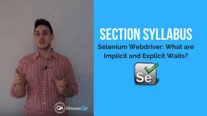 selenium webdriver implicit and explicit waits section syllabus