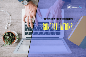 Congratulations of the elements identification course