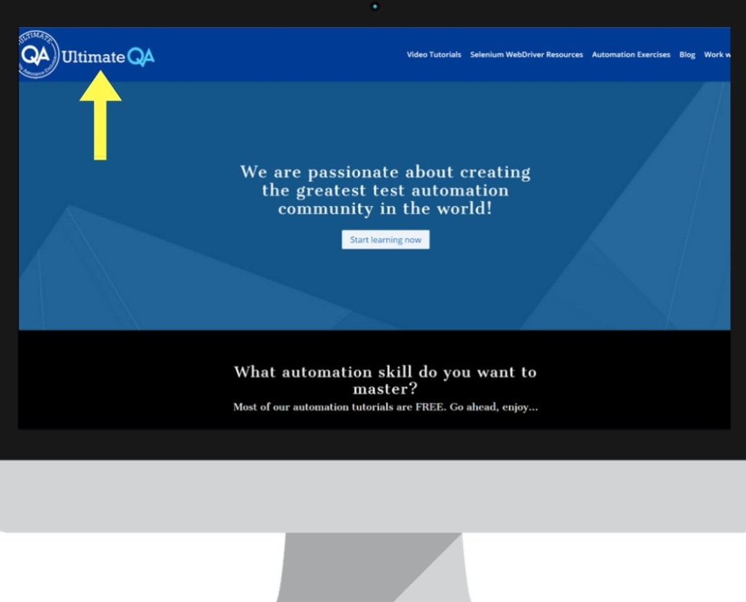 visual bug ultimateqa website logo is not readable