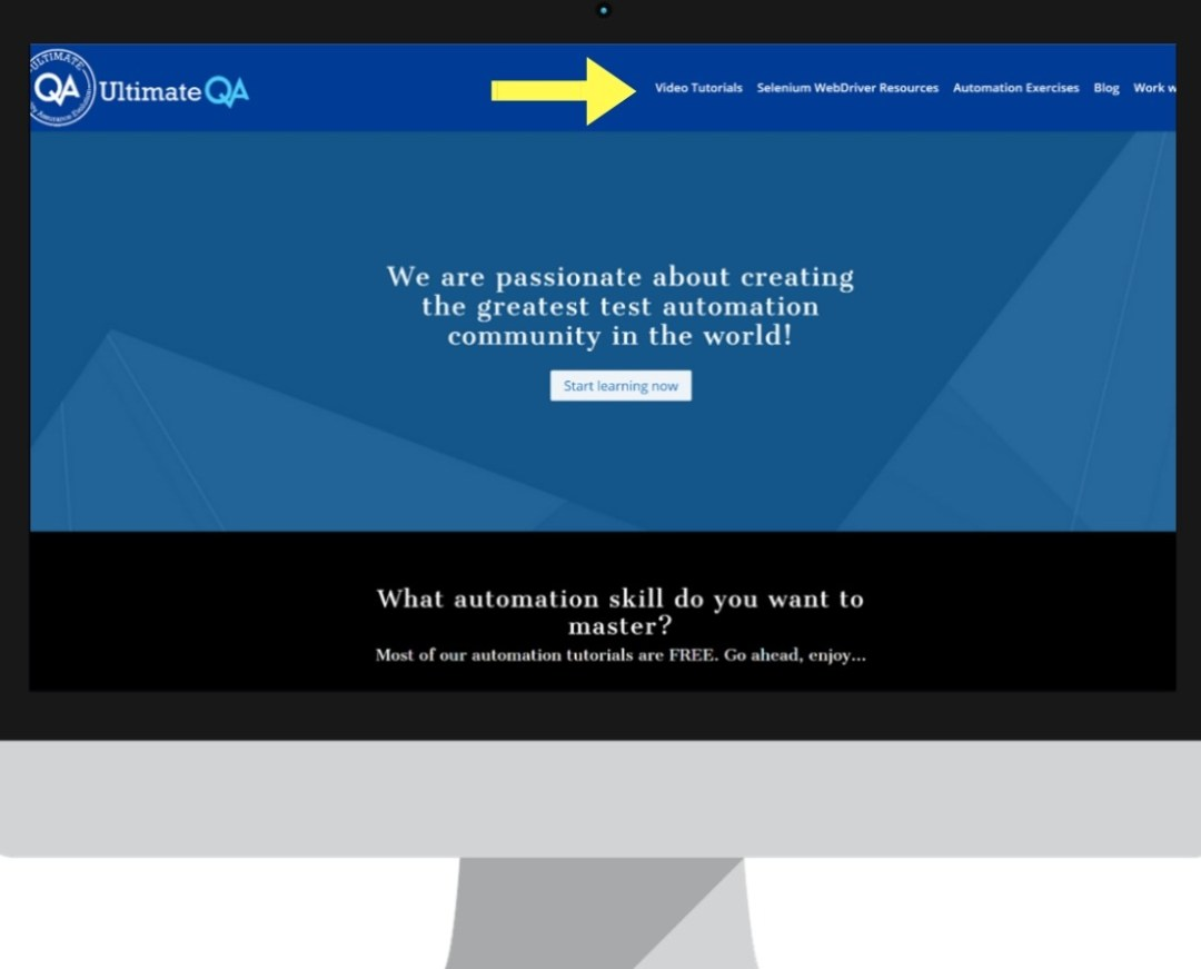 visual bug ultimateqa website