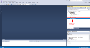 double click program.cs in the solution explorer to reopen it after closing