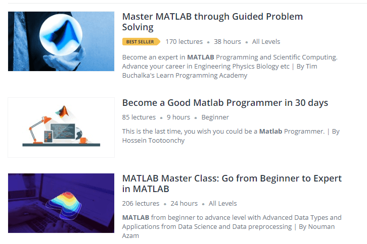 MATLAB how to learn udemy - Ultimate QA