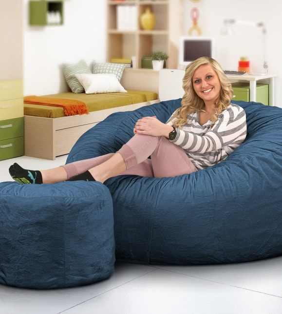 foam bean bag chair how to recover dining room chairs custom from ultimate sack 5000