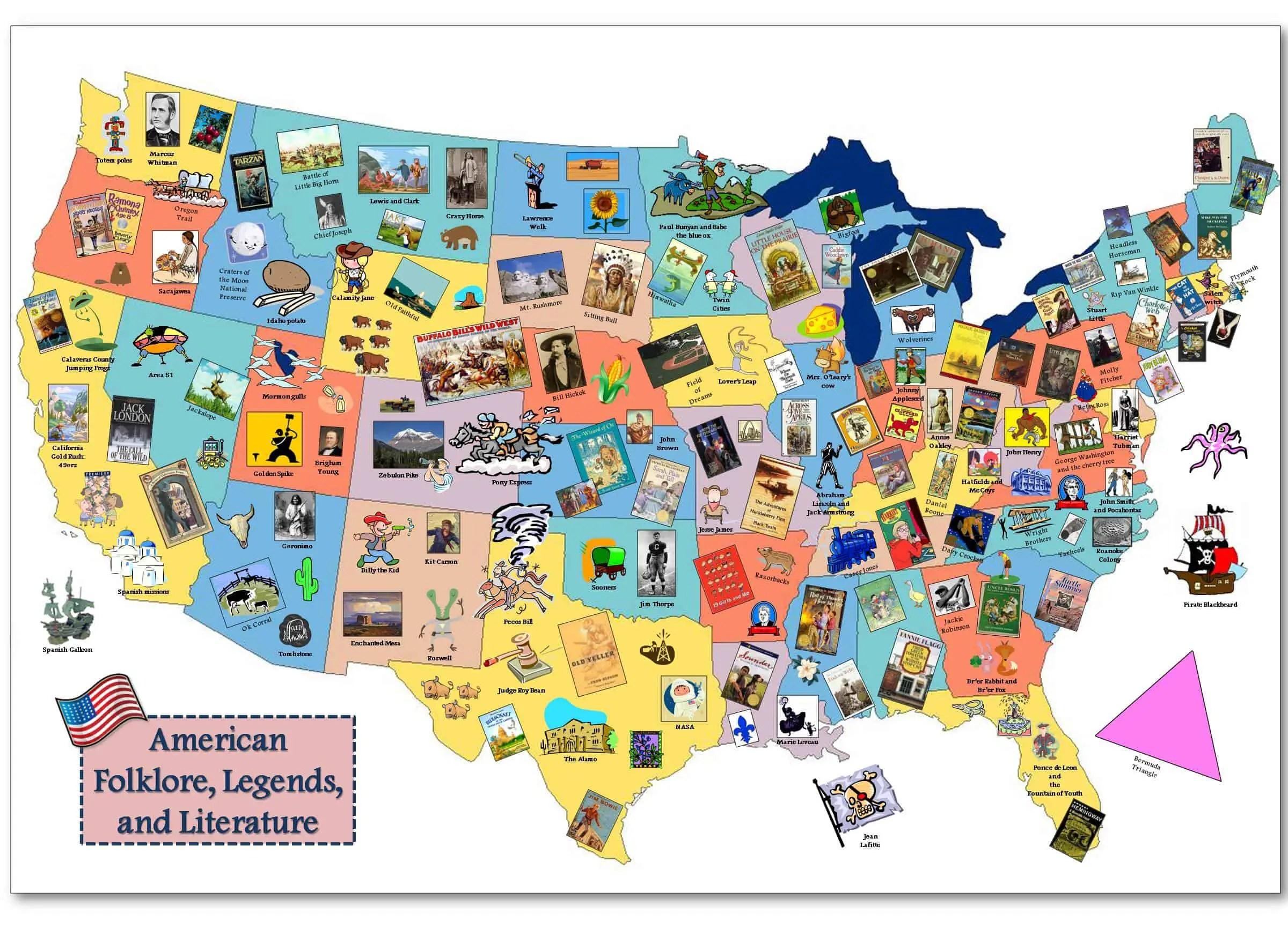 In Depth American Folklore Map