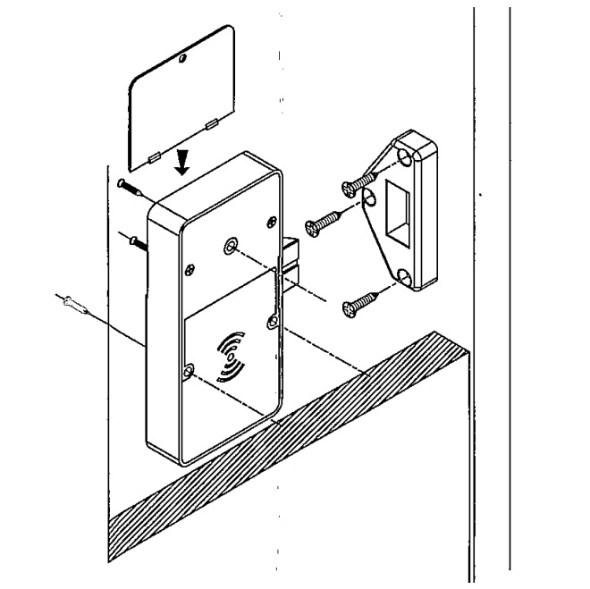 Reinforced Electronic RFID hidden cabinet lock with Metal