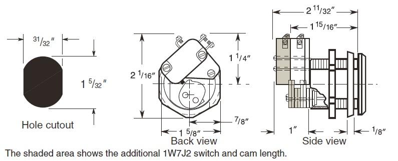 Small Format Interchangeable Core switch lock, alternative