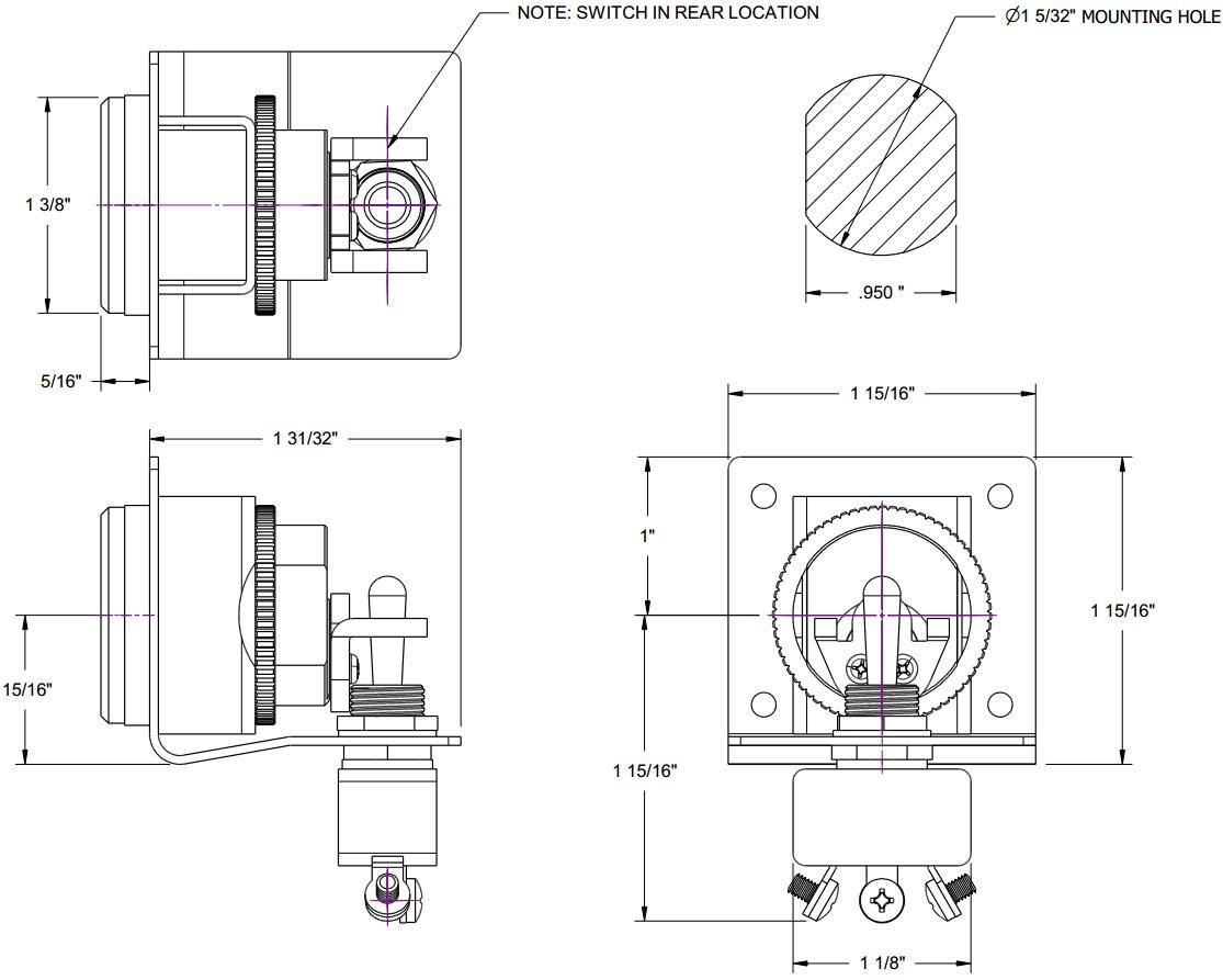Small Format Interchangeable Core (SFIC) key switch lock
