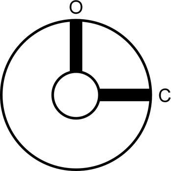 ON-OFF key switch lock WITH TWO KEYS, SCREW TERMINAL, TWO