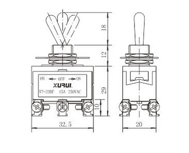 Double Momentary Double Pole Toggle Switch for SFIC Switch
