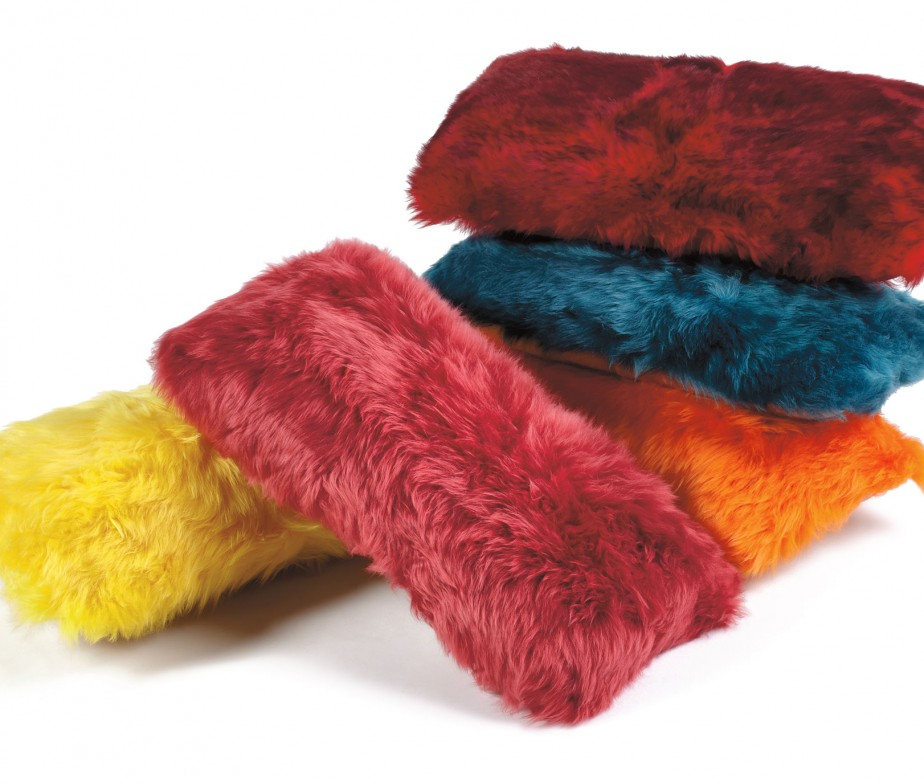 Sheepskin Pillows 11 x 22 Fur Cushions Ivory