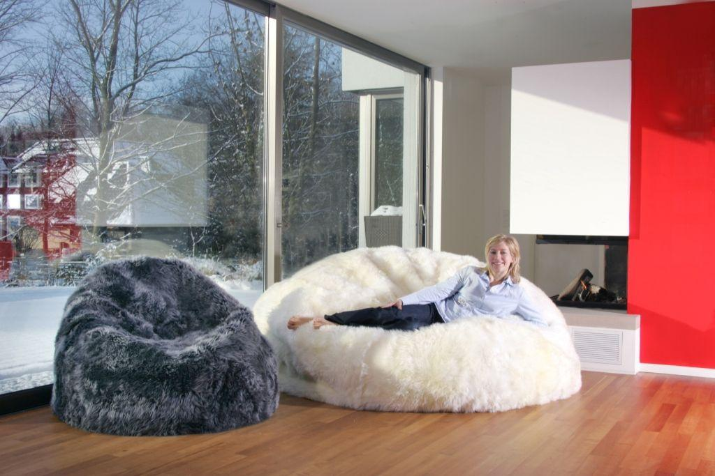 living room bean bags black and white rugs fibre by auskin giant sheepskin bag chair cover 6 ultimate chairs large
