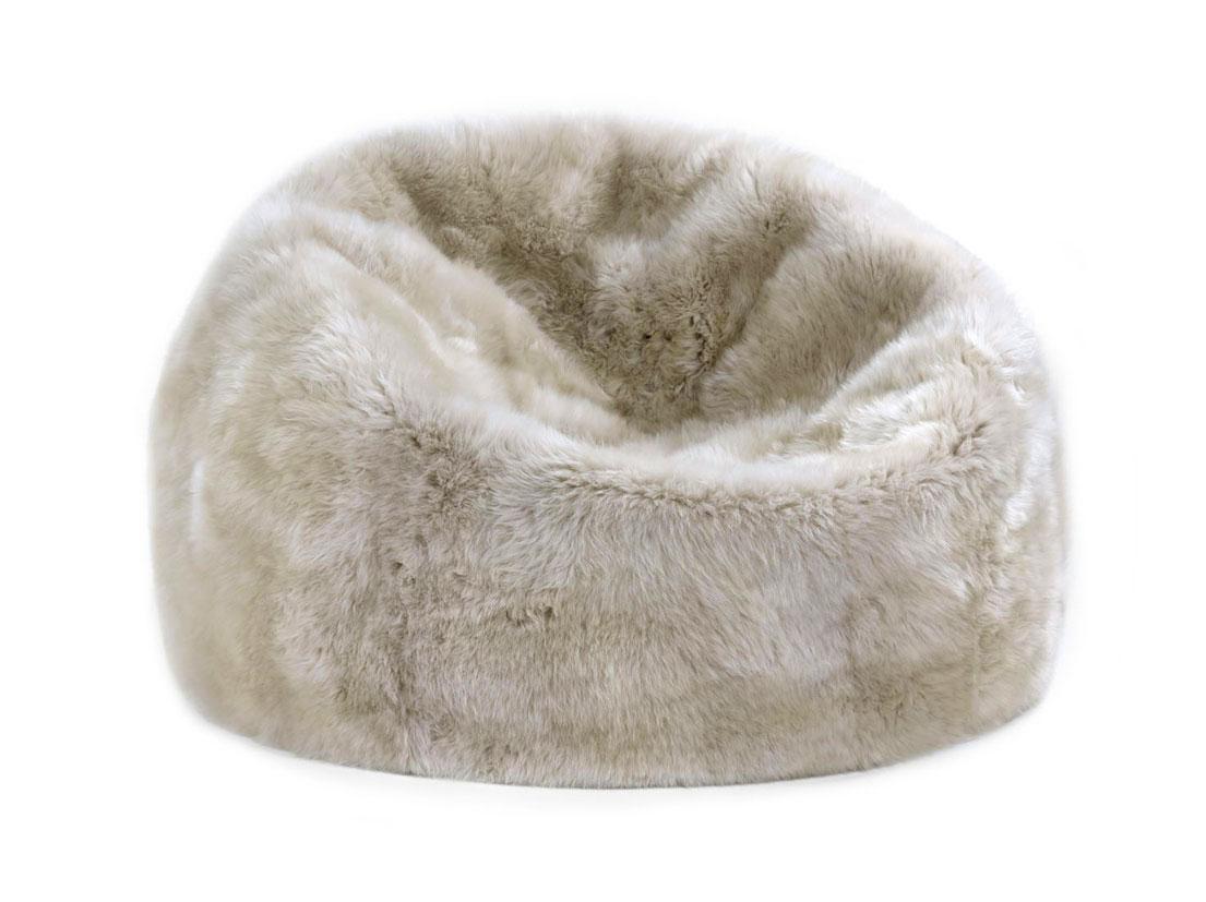 Sheepskin bean bag chair large fur bean bag chairs