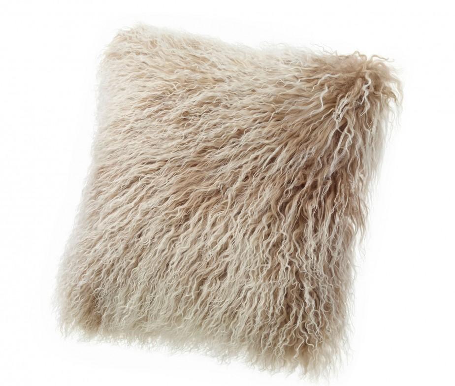 Tibetan Lambskin Throw Pillows Curly Fur Cushions 16
