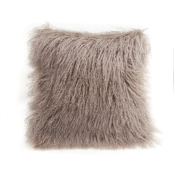 Fibre Auskin Tibetan Lambskin Throw Pillows 16 Square