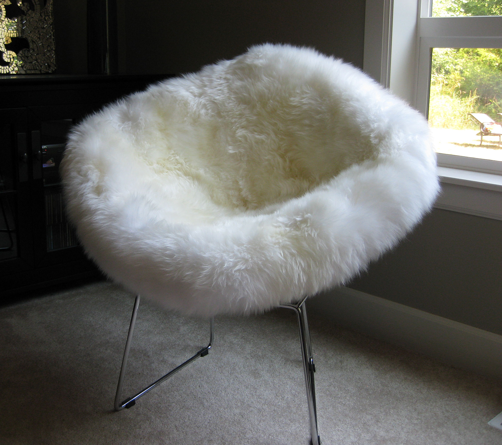 sheepskin chair covers for recliners uk xenon office bertoia style diamond wire with