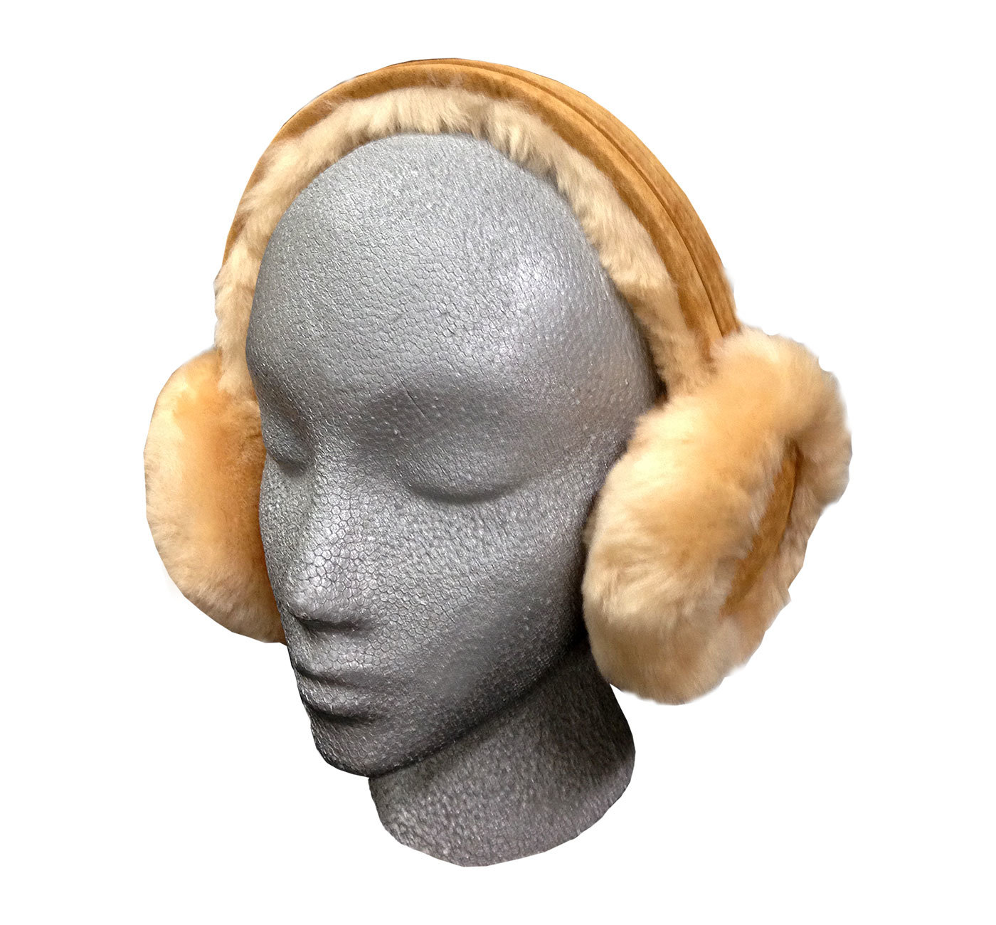 Sheepskin Fur Earmuffs Brown Fluffy And Warm Ultimate Sheepskin