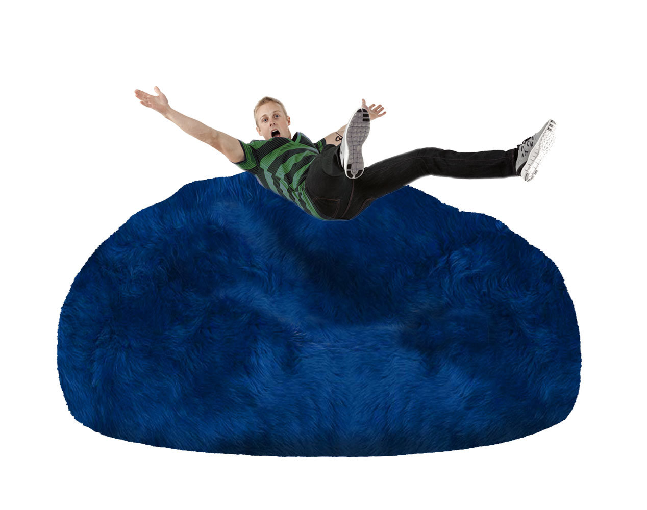 blue bean bag chairs chair with desk attached for your home  ultimate sheepskin