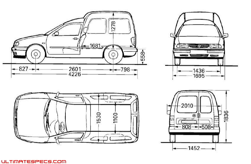 Volkswagen Caddy Dimensions. vw caddy panel van dimensions
