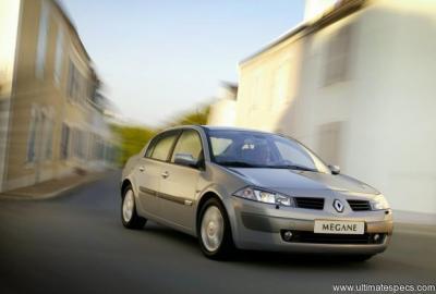 Renault Megane 2 Phase 1 Saloon 1 5 Dci 100hp Confort Authentique Technical Specs Dimensions