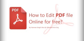 How to Edit PDF file online for free?