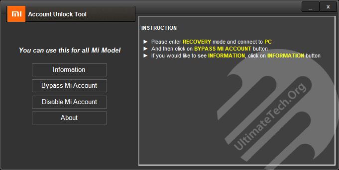 Download Mi Account Unlock Tool