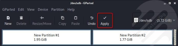 How to Make Partitions for USB Drive in Linux?