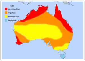 Termite Infestation Probability Map Australia