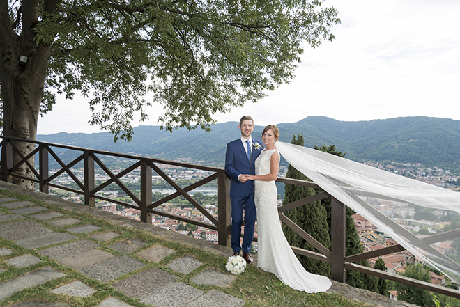 Bride and groom in Lake Como | Lake Como Wedding | Belle Momenti Photography