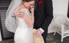 Bride and Groom hugging | Regal Winter Wedding | Bokeh Love Photography