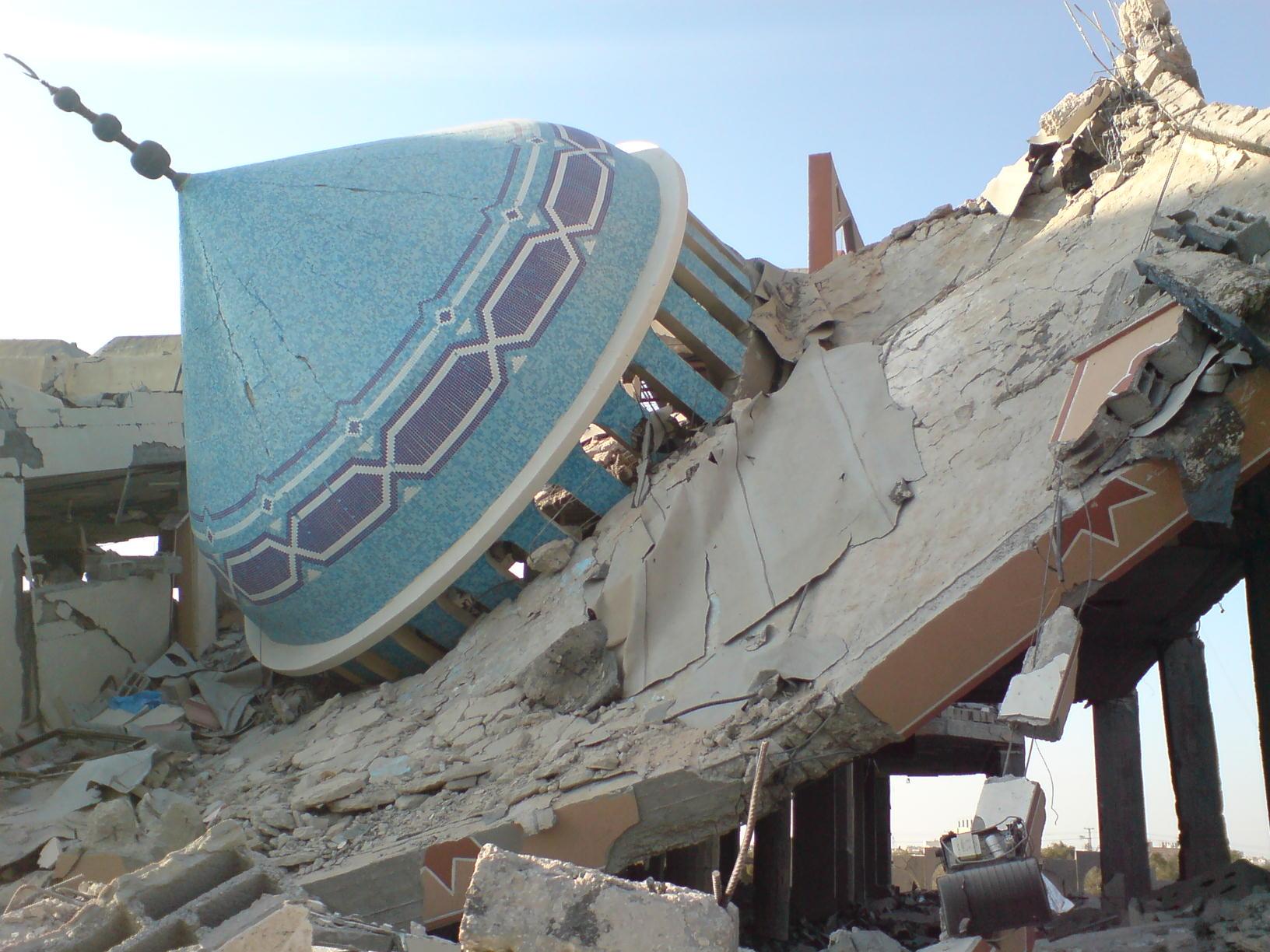 Moschee distrutte