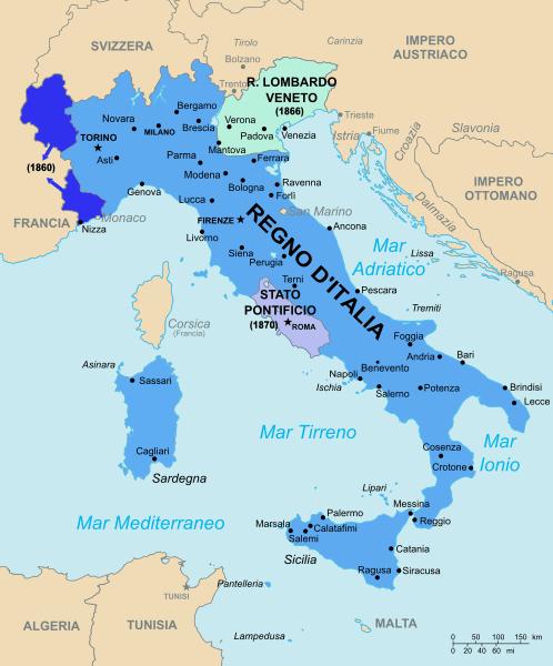 Cartina Italia Unita 1861.Una Cartina Del Regno D Italia Nel 1861 Ultima Voce