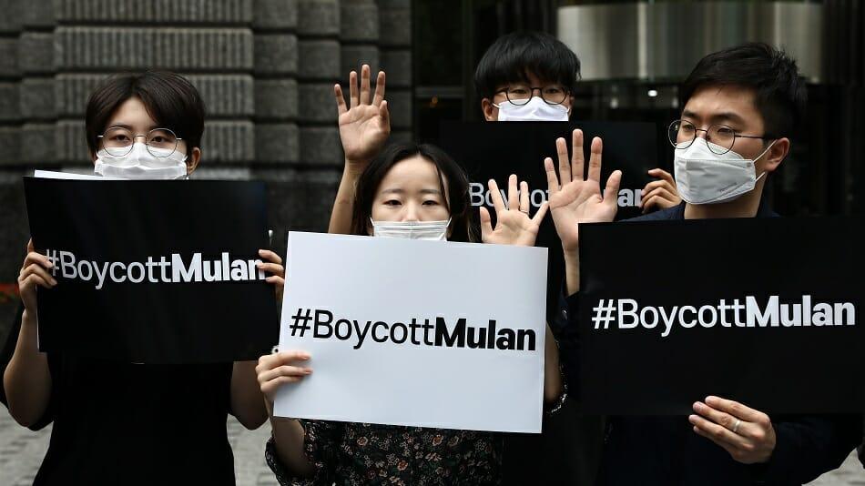 #BoycottMulan: protesta