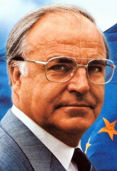 Helmut Kohl, cancelliere della Repubblica Federale Tedesca, è stato uno dei sostenitori della riunificazione tedesca. (1989)