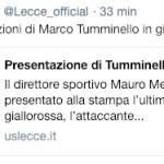 Tummiello al Lecce