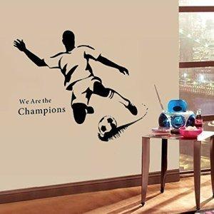 WALPLUS  Adesivo da Parete riposizionabile Motivo Calcio