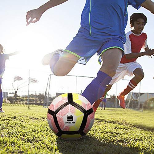 YANYODO Pallone da Calcio Unisex Adultoper BambiniGiovaniAdultiSize 5