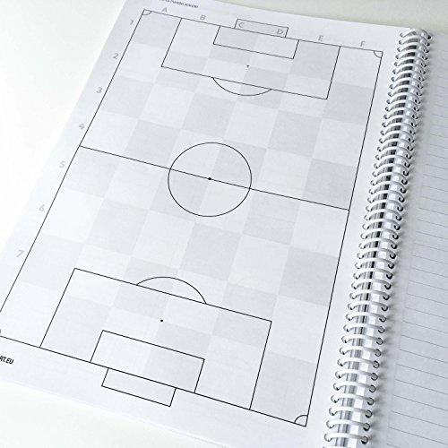 1x1Sport Play Book per calcio quaderno per schemi e tattiche per allenatori Playbook A4