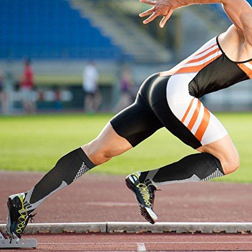 5 paia Calze a compressione per uomini e donne 2030 mmhg Ottime per il miglioramento delle prestazioni sportive corsa resistenza recupero circolazione e viaggi in aereo