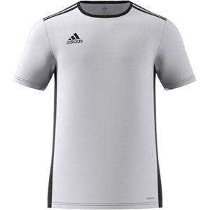 adidas Entrada 18 JSY Teamtrikot Maglietta Bambino Bianco WhiteBlack 1314 anni 164